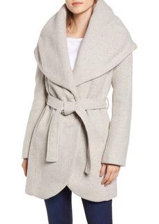 Tahari Marla Oversize Shawl Collar Wrap Coat