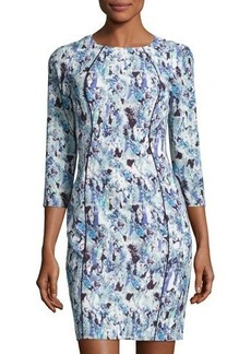 Elie Tahari Merry Splatter-Print Sheath Dress