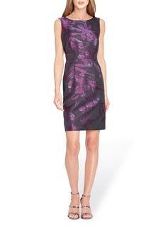 Tahari Metallic Jacquard Sheath Dress (Regular & Petite)
