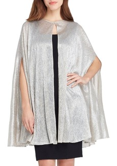 Tahari Metallic Knit Cape
