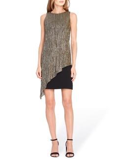 Tahari Metallic Overlay Sheath Dress