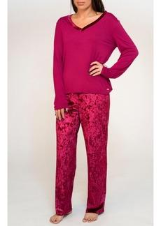 Tahari Mix Velvet Pajama Set, Online Only