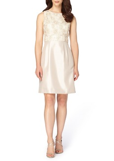 Tahari Mixed Media A-Line Dress (Regular & Petite)