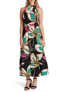 Tahari Mock Neck Maxi Dress