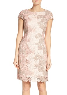 Tahari Multicolor Lace Sheath Dress