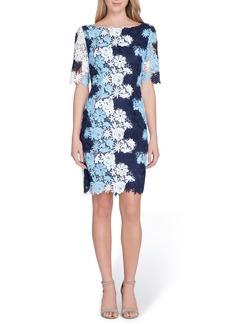 Tahari Multicolor Lace Sheath Dress (Regular & Petite)
