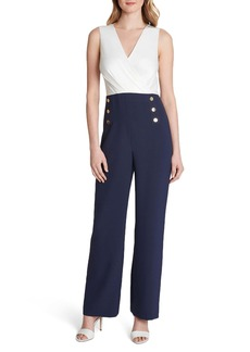 Tahari Nautical Colorblock Jumpsuit