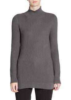 Tahari Niya Woven Cotton Sweater