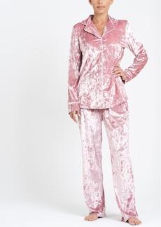 Tahari Notch Collar Velvet Pajama Set, Online Only
