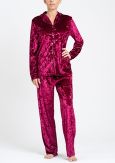 Tahari Notch Collar Velvet Pajama Set, Online Only