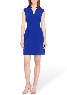 Tahari Notch Neck Sheath Dress (Regular & Petite)