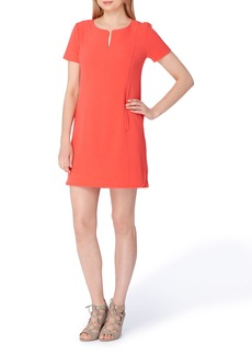 Tahari Notch Neck Sheath Dress
