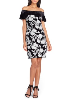 Tahari Off the Shoulder Body-Con Dress