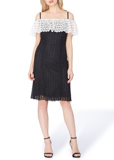 Tahari Off the Shoulder Lace Dress
