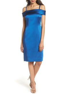 Tahari Off the Shoulder Sheath Dress