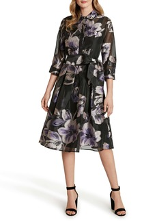 Tahari Organza Shirtdress