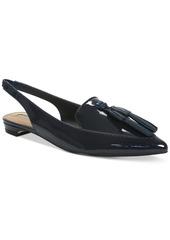 Tahari Paulina Slingback Pointed Toe Smoking Flats Women's Shoes