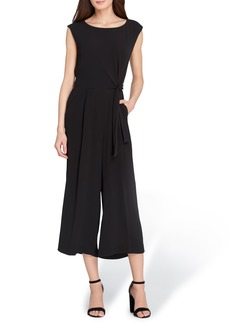 Tahari Pebble Crepe Jumpsuit