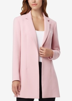 Tahari Petite Asl Notched-Collar Kiss-Front Jacket