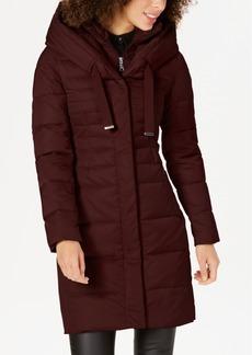 Tahari Pillow-Collar Hooded Down Puffer Coat