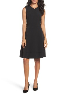 Tahari Pinstripe Fit & Flare Dress (Regular & Petite)