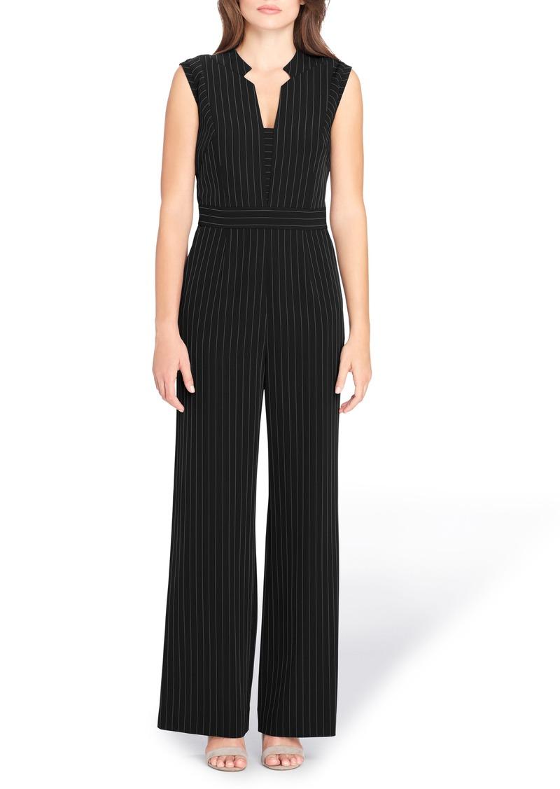 Tahari Pinstripe Jumpsuit (Regular & Petite)