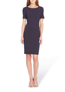 Tahari Pinstripe Sheath Dress (Regular & Petite)
