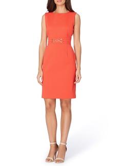 Tahari Piqué Knit Sheath Dress (Regular & Petite)