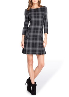 Tahari Plaid Sheath Dress