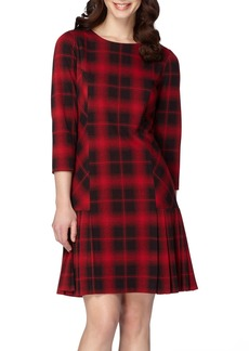 Tahari Plaid Shift Dress (Regular & Petite)