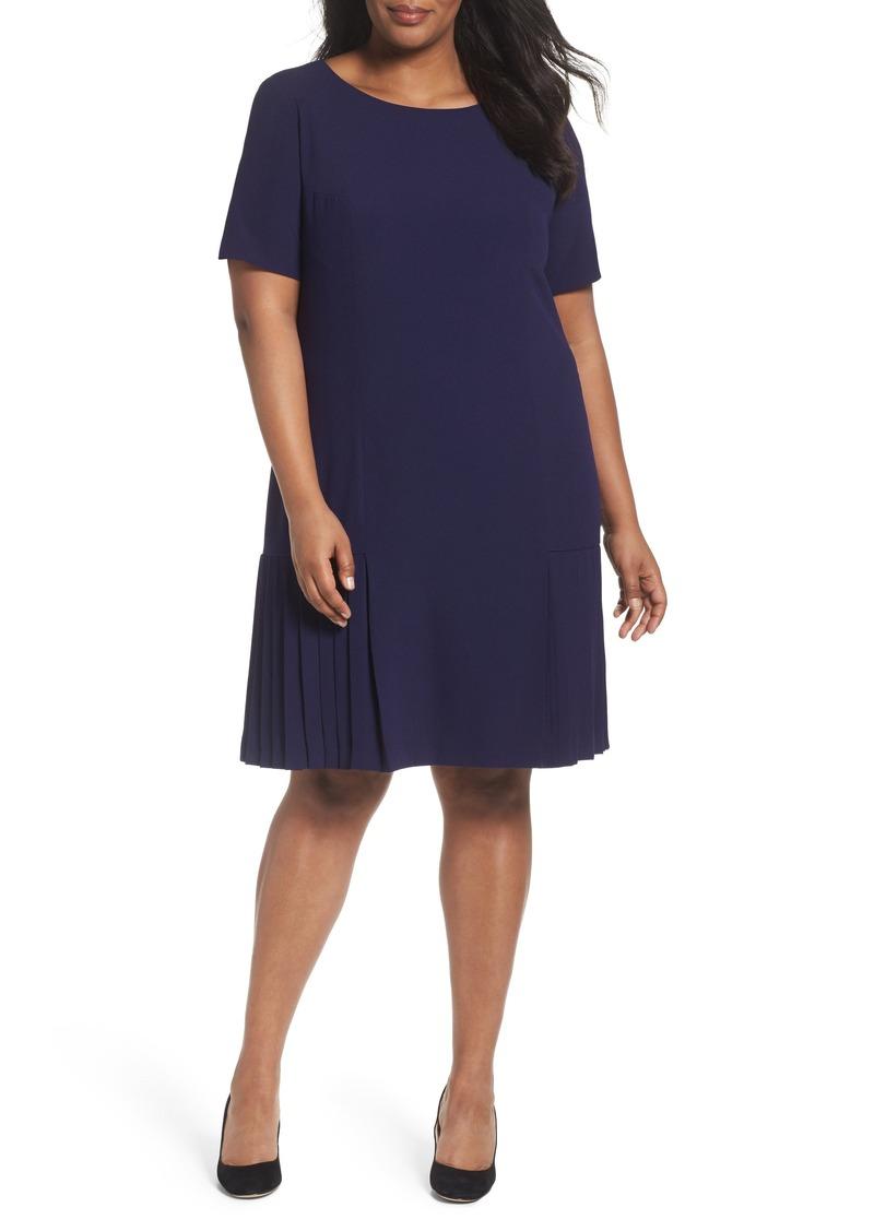 6cbeeda46d60 Tahari Tahari Pleat Crepe A-Line Dress (Plus Size) | Dresses
