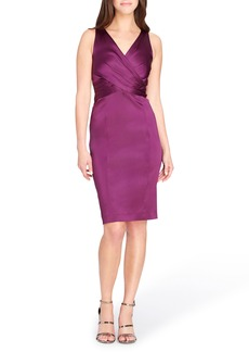 Tahari Pleated Body-Con Dress