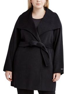 Tahari Plus Size Ella Wrap Coat, Created for Macy's