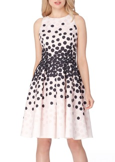 Tahari Polka Dot Fit & Flare Dress (Regular & Petite)