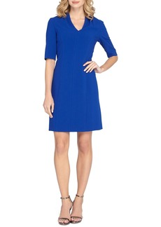 Tahari Ponte Knit A-Line Dress (Regular & Petite)