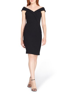 Tahari Portrait Collar Sheath Dress
