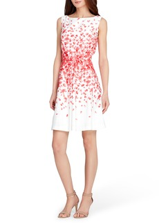 Tahari Print Fit & Flare Dress