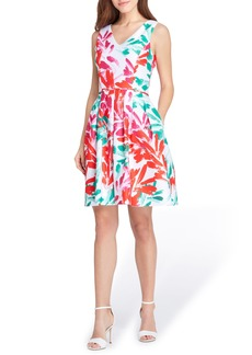 Tahari Print Jacquard Dress (Regular & Petite)