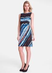 Tahari Print Jersey Sheath Dress