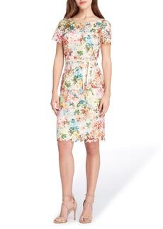 Tahari Print Lace Sheath Dress (Regular & Petite)