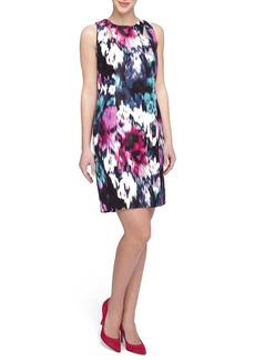Tahari Print Sheath Dress (Regular & Petite)