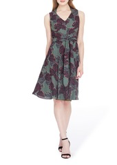 Tahari Print Sleeveless A-Line Dress