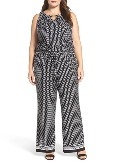 Tahari Print Wide Leg Jumpsuit (Plus Size)