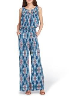 Tahari Printed Matte Jersey Jumpsuit