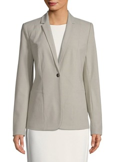 Queena Single Button Blazer