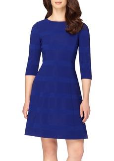 Tahari Ribbed Fit & Flare Dress (Regular & Petite)