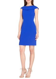 Tahari Roll Neck Sheath Dress (Regular & Petite)