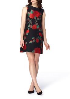 Tahari Rose Jacquard Shift Dress