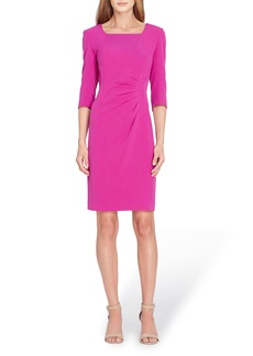 Tahari Ruched Sheath Dress
