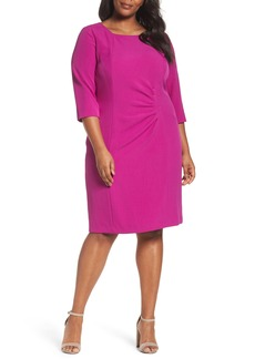 Tahari Ruched Sheath Dress (Plus Size)